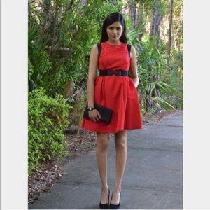 Prabal Gurung For Target Red Fit & Flare Dress 8